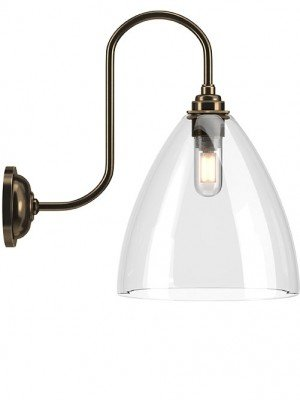 Ledbury Clear Swan Neck Bathroom Light
