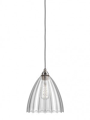 Ledbury Ribbed Glass Pendant