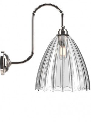 Ledbury Ribbed Swan Neck Bathroom Light