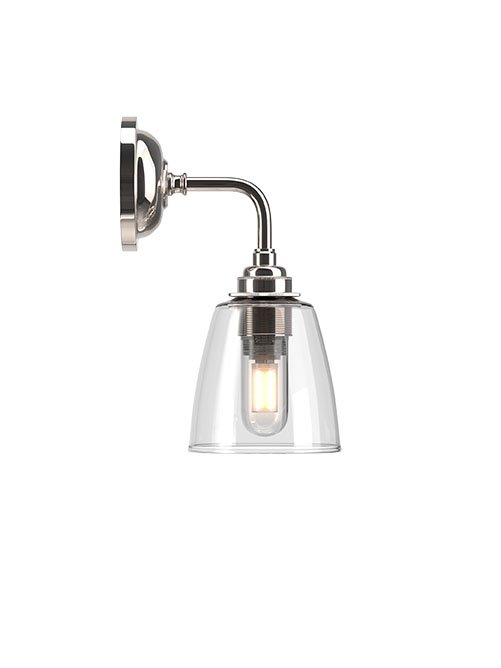 Pixley Clear Glass Contemporary Bathroom Light