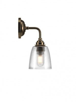 Pixley skinny ribbed glass Contemporary Bathroom Light
