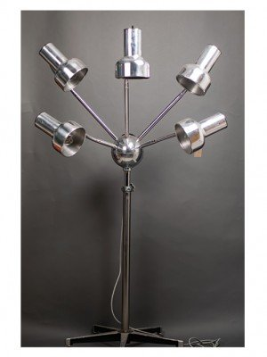 Multi-arm 1950s hairdressers lamp