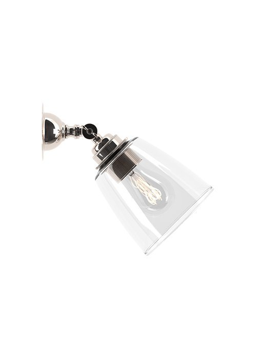 Traditional Spotlight with Pixley Clear Glass Shade