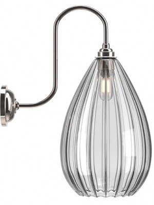 Wellington Ribbed Glass Swan Neck Bathroom Light