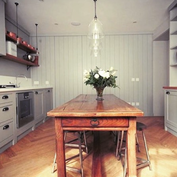 This superb urban kitchen designed by london architecture studio londonarchitecturestudio features our large clear ledbury pendants £140 over the table
