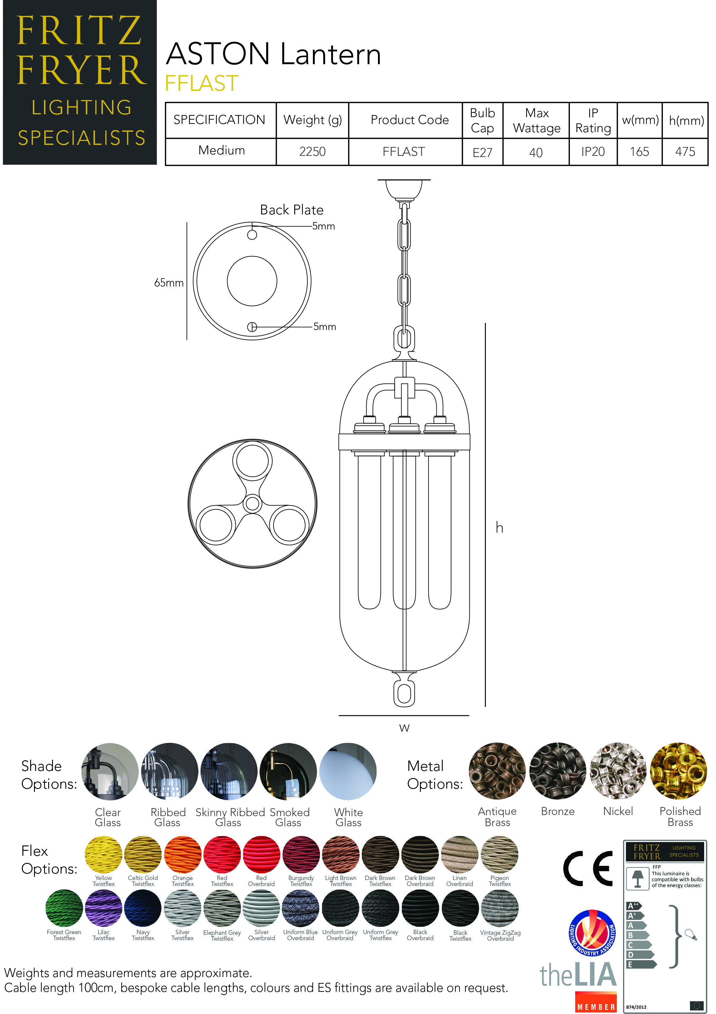Designer-lighting-technical-data-sheet-for-aston-lantern