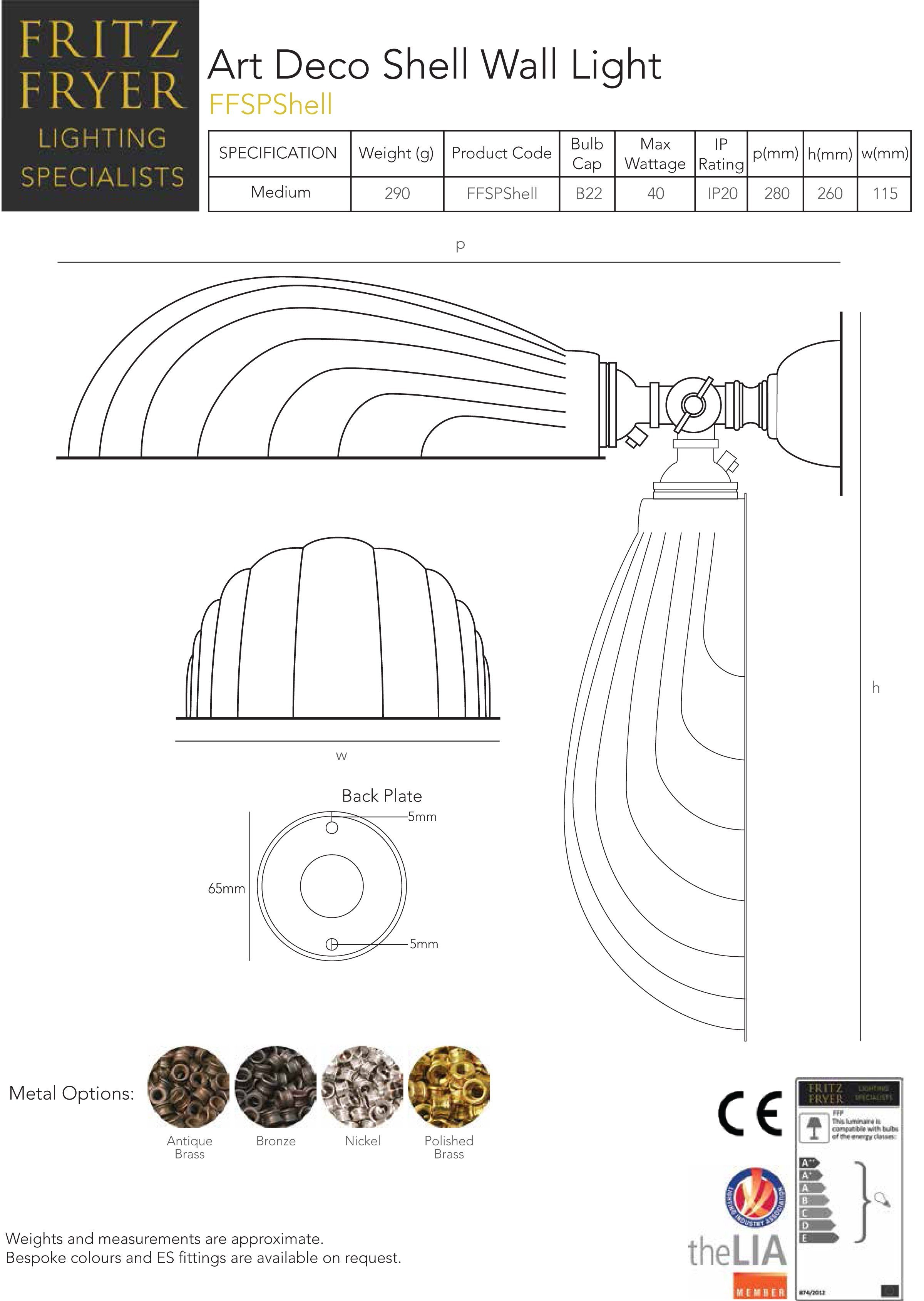 designer-lighting-art-deco-shell-wall-light-technical-data-sheet-fritz-fryer