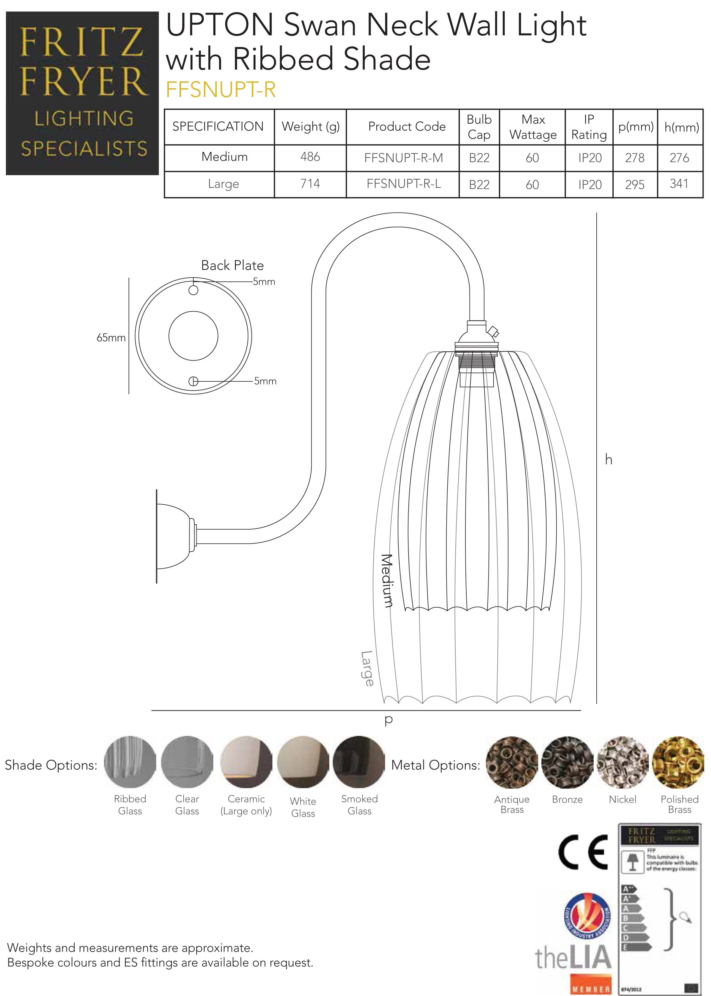 designer-lighting-upton-swan-neck-wall-light-ribbed-technical-data-sheet-fritz-fryer